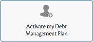 "Screenshot: ""Activate My Debt Management Plan"" button"