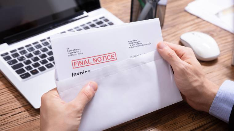 final notice on an unpaid bill
