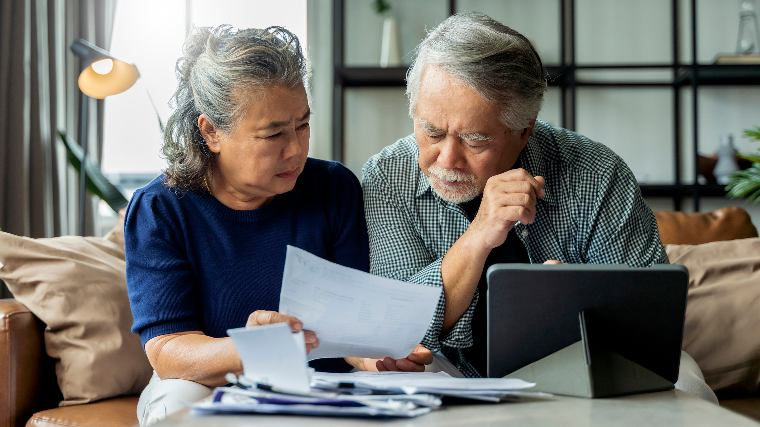 Retired couple considering their finances