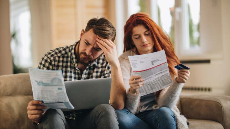 couple reviewing their taxes