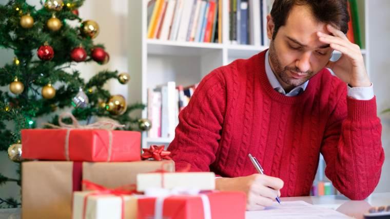 Man regretful of his Christmas spending