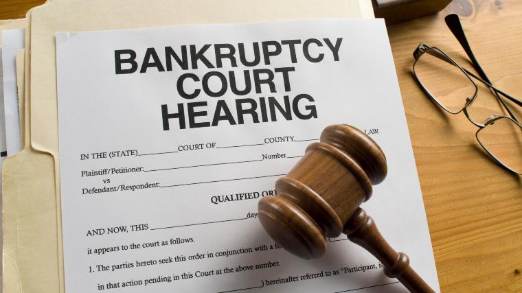 gavel and bankruptcy documents