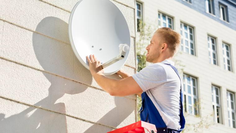 Installing a satellite for cable TV