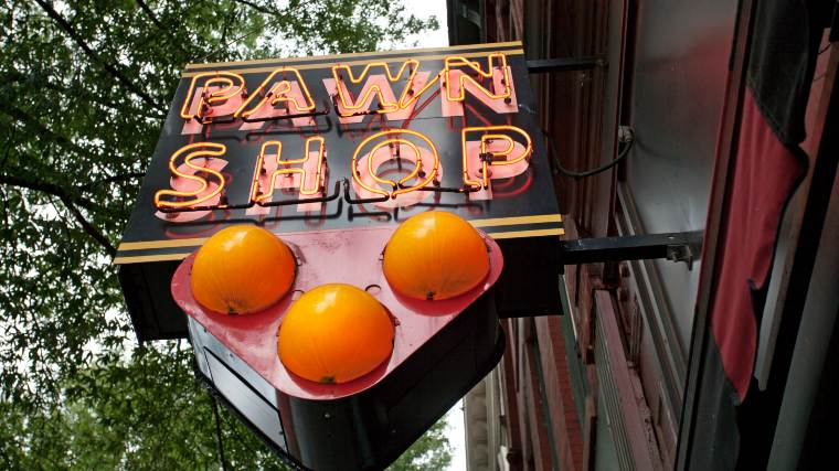 sign for a pawn shop