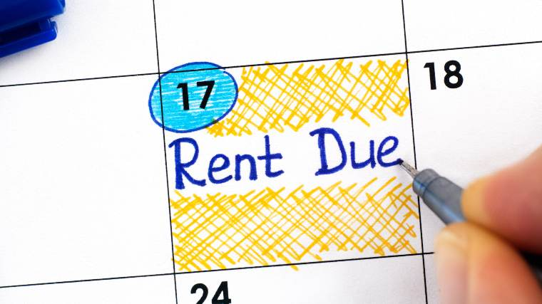 calendar marking when rent is due
