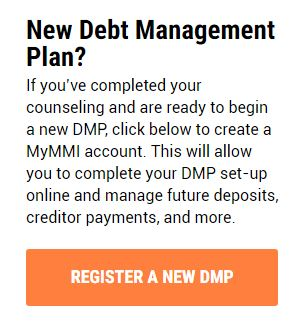 MMI instruction page screenshot - register your dmp